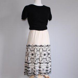 Lane Bryant Cream Lace Overlay Skirt Sz 18/20